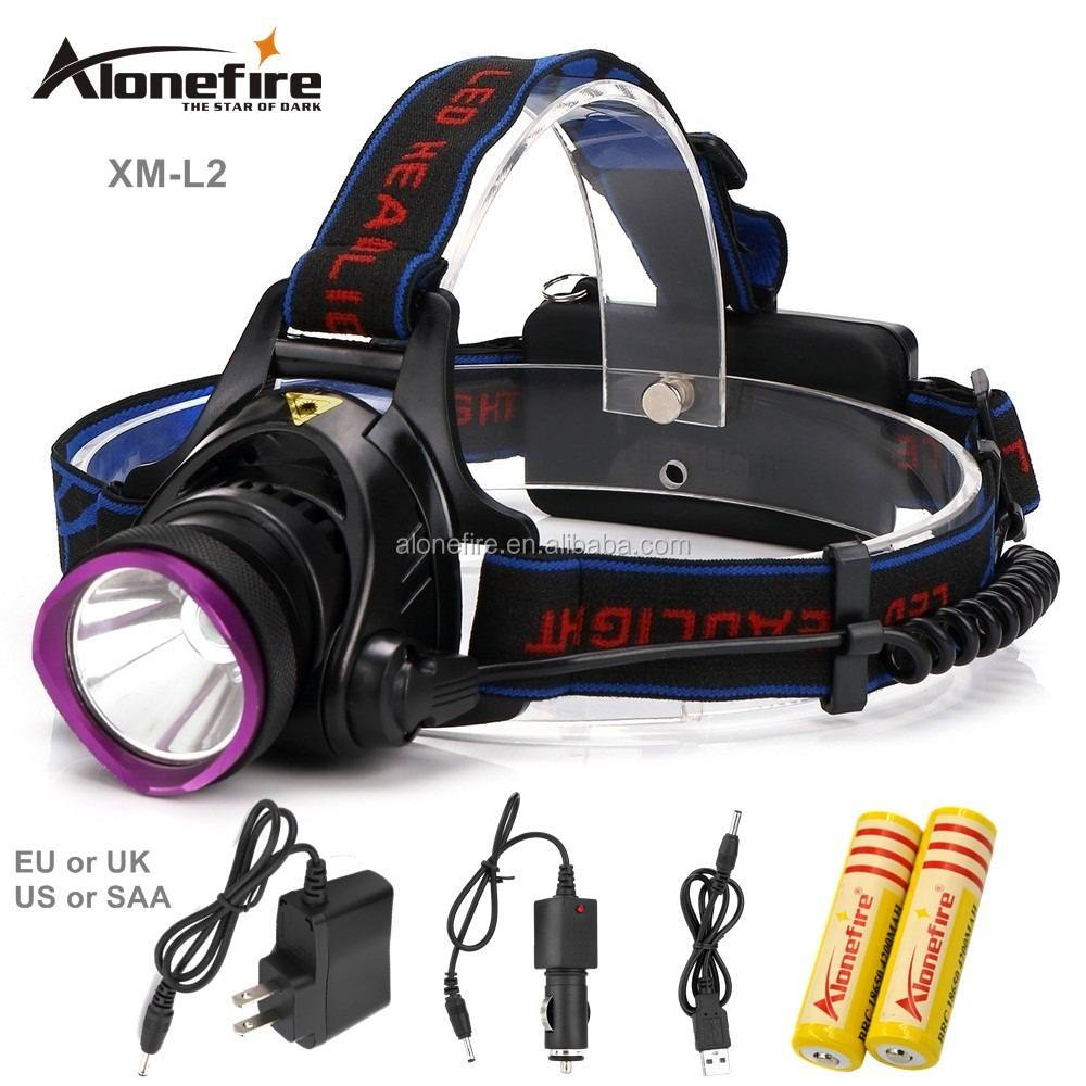 AloneFire HP81 XM-L <strong>L2</strong> led headlamp 2200LM LED headlight 18650 Rechargeable Battery waterproof head lamp