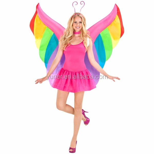 2016 Custom carnival festival girls inflatable butterfly wings costume