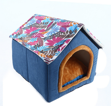 2017 New Style Japanese Fabric Dog Bed Supplies Wholesale Small Detachable Pet Nest Dog Bed Cute