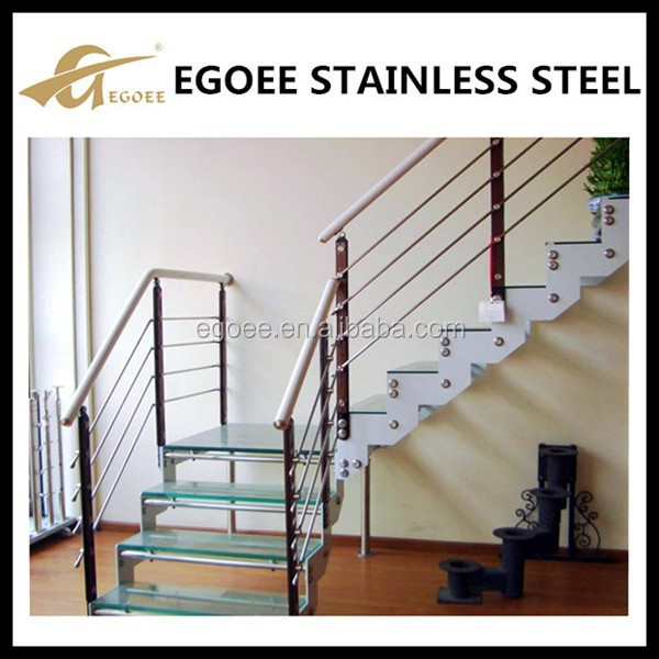 modern stainless and wood banisters for stair designs