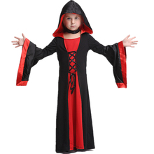 fascinations classic hot black and red unseix children magician Halloween costume