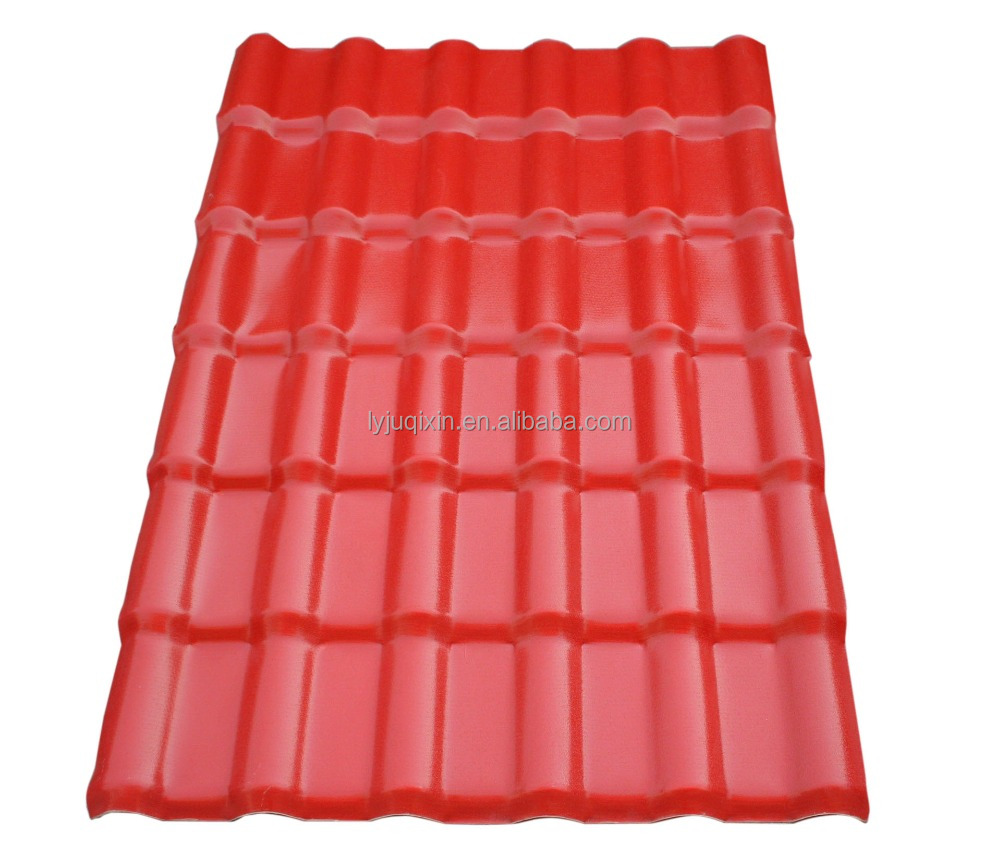 Large dimension easy intatallation spanish corrugated plastic roofing sheets/APVC insulation roof tile