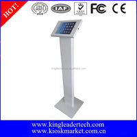 Lockable anti-theft tablet display floor stand for trade show display tablet stand