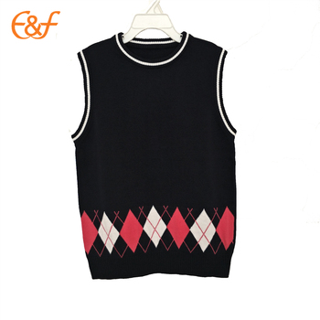 Japanese Modern School Uniform Knitted Vests Designs