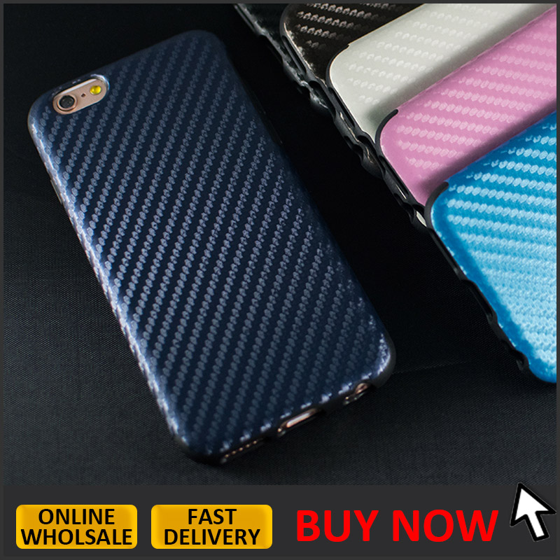 Hot sale carbon fiber TPU case for iphone 6 plus 5.5inch <strong>protective</strong> back cover case