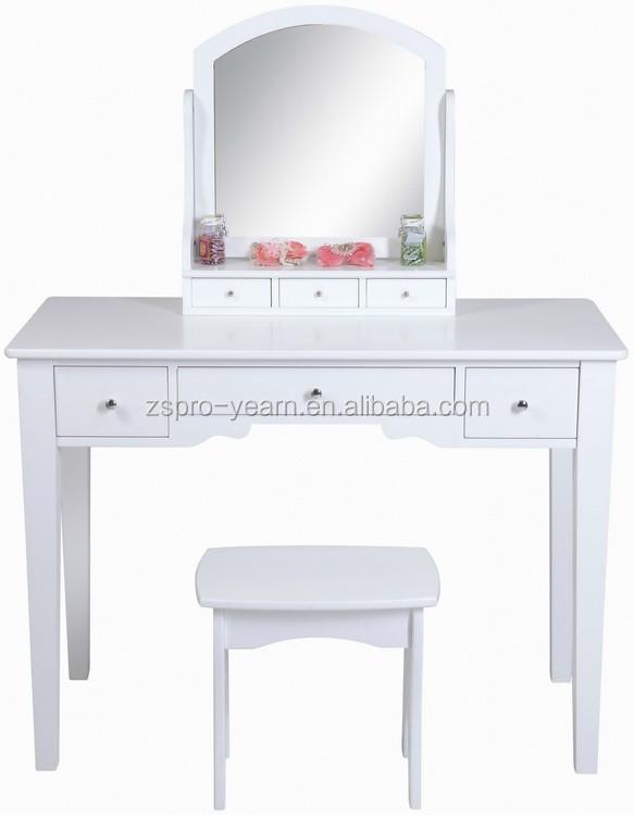 moderne make up kommode holz frisiertisch mit spiegel und. Black Bedroom Furniture Sets. Home Design Ideas