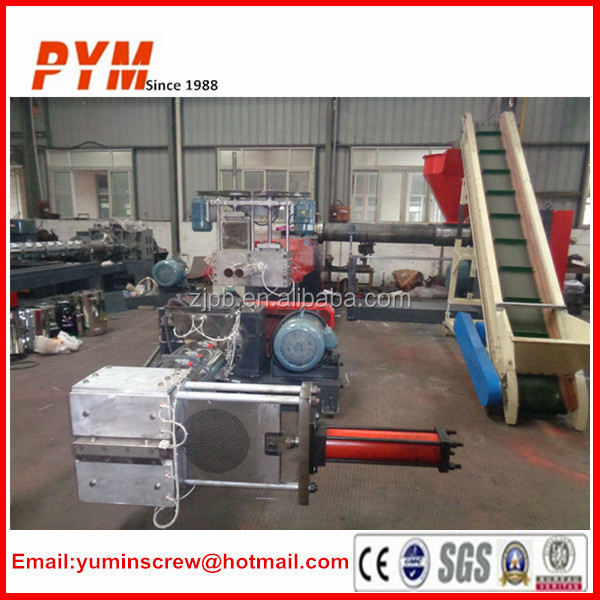 PET Bottle Flakes recycling and pelletizing machine