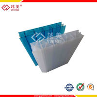 Guangzhou Panel plastic Yuemei twin wall hollow polycarbonate pc roofing carport