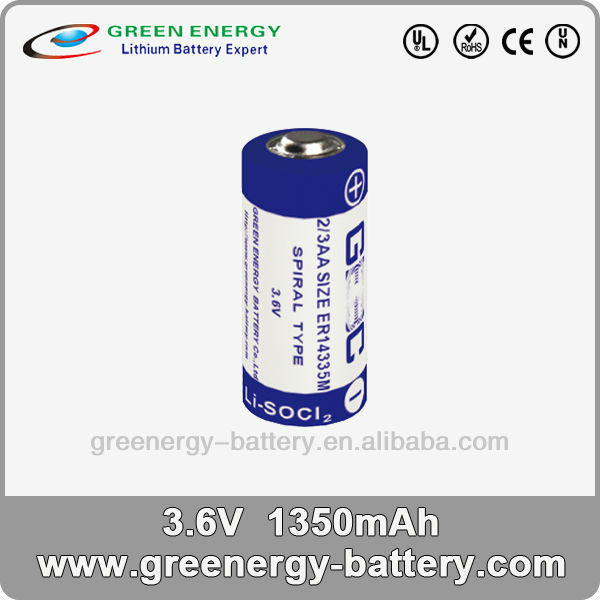 3.6v original private label battery manufacturing ER14335M 1350mah