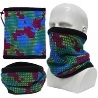 New Polar Fleece Knitted Neck Warmer Snood Scarf Hat Mask Thermal Ski Wear Snowboard Hat
