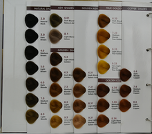 Excellent quality hair color chart
