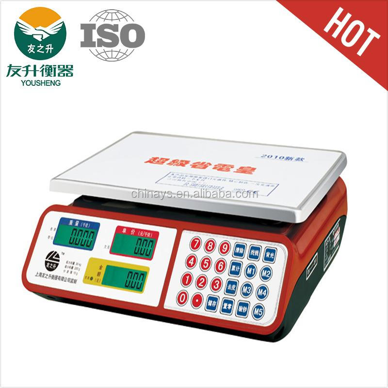 CE Certificate Weighing Balance Scale LCD / LED Super Sensitive Load Cell,Antifall, ABS Strong Body,Flat Stainless Iron Plate