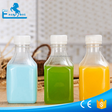 250ml square plastic milk bottle in clear