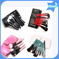 Hot sale 10 pcs per set cosmetic brush set wood handle makeup brush set four colors makeup brush kit