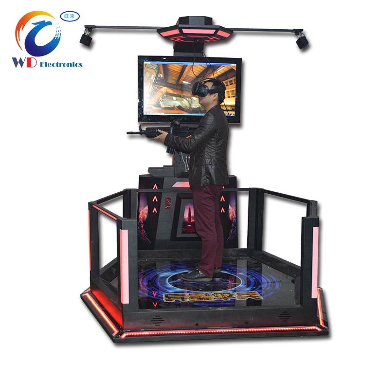 Houston coin operated 9d egg vr walker, Coin Operated Virtual Reality 9D VR Standing Platform Play By Joystick