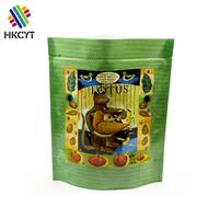 Logo print aluminum foil resealable stand up pouch for pet food packaging