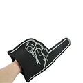 China Wholesale Promotional Gift Advertising PU Middle Eva Cheering Giant Custom Shocker Foam Finger Hand Sponge For Sports Game