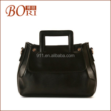 2014 Bori lady leather weekend travel trolley cosmetic bag
