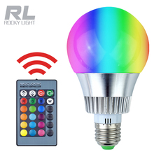 3W 5W 9W E27 base IR Remote Controller rgbw color changing light lamp led rgb bulb