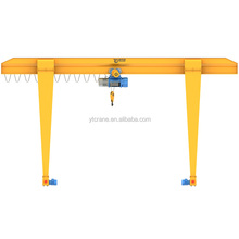Yuantai Manufacturer Direct Sale 10t long travelling single beam gantry crane