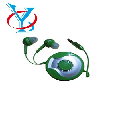 QY-E11 Earphone with extension cable,earphones with retractable cord for mibile phone