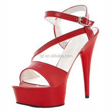 Fashion Wedding Dress Shoes 15cm High-Heeled Shoes Red Bottom High Heels Platform Sexy Shoes