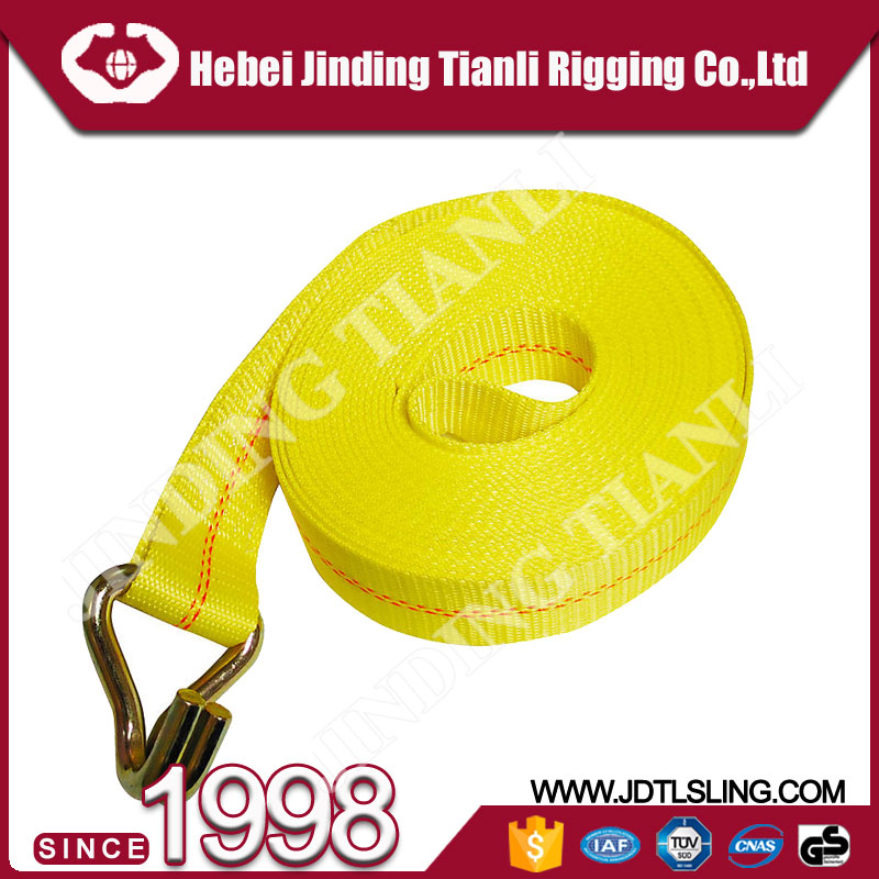 W/flat hook 1.5 ton cargo lashing heavy duty ratchet straps rope ratchet tie down with CE approved
