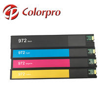 wholesale distributor compatible ink cartridge 972 XL BK/C/M/Y for HP PageWide 352dw/377dw/452dw