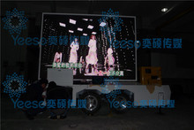 2014 New Product Portable outdoor advertising mobile led display trailer