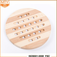 Durable Bamboo Round Non-slip Heat Resistant Mat Coaster Cushion Placemat Pot Holder