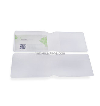 Cheap PVC Plastic Recycled Business Cards Holder