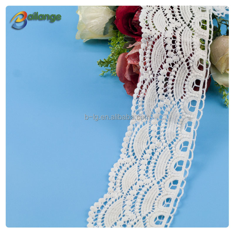 Bailange wholesale embroidery lace trim for women cloth , new design flower lace trimming for bridal veil