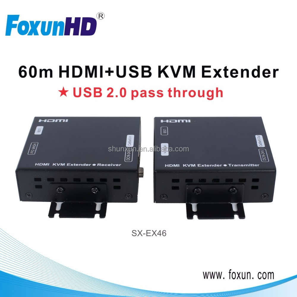 100m HDMI Extender support 60m USB Extend via Cat5e or Cat6 Lan Extender 1080p