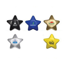 Star Shaped PU Stress Ball Promotional Custom Imprinted With Logo