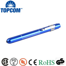 Promotional 1w aluminum alloy led medical pen light,1*AAA battery powered mini medical pen torch