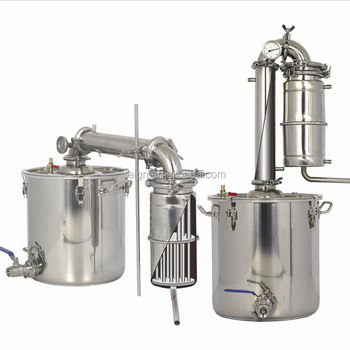 Large Capacity! Household Stainless Steel Alcohol Distiller 70L Wine Brewing Device Spirits Alcohol Distillation Boiler