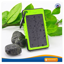 AWC606 with Carabiner 6000mAh Solar Battery Backup Charger Waterproof Portable Solar Charger