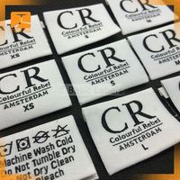woven clothing label tags labels