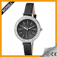 Alibaba china wholesale oriental stainless steel watch with diamond circle decoration