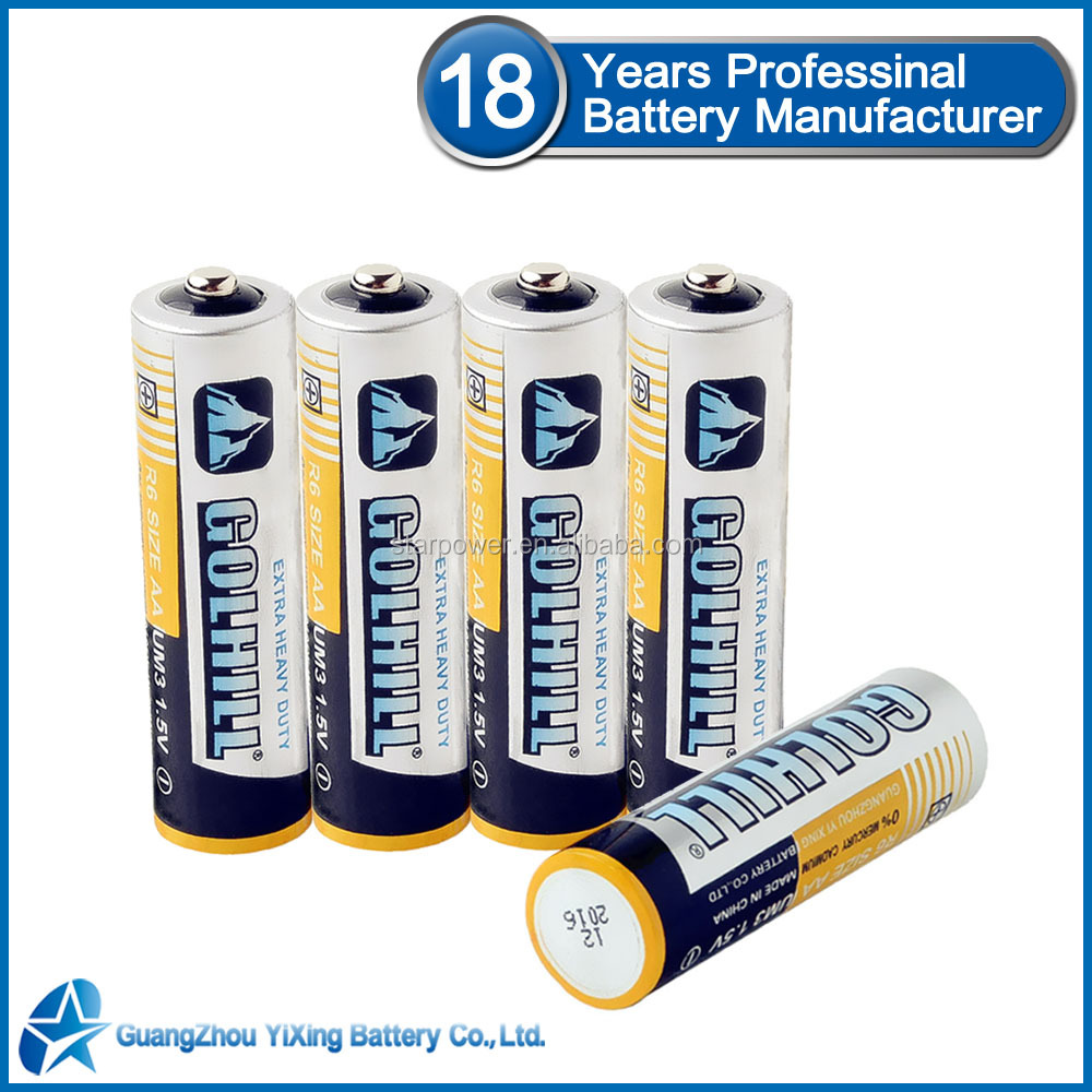 Non-rechargeable battery Um3 1.5v aa dry battery r6