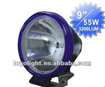 "Hot sale auto search light 9"" 55W hid work lights for trucks"