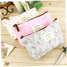 2016 custom fashion wholesale cotton canvas travel cosmetic bag