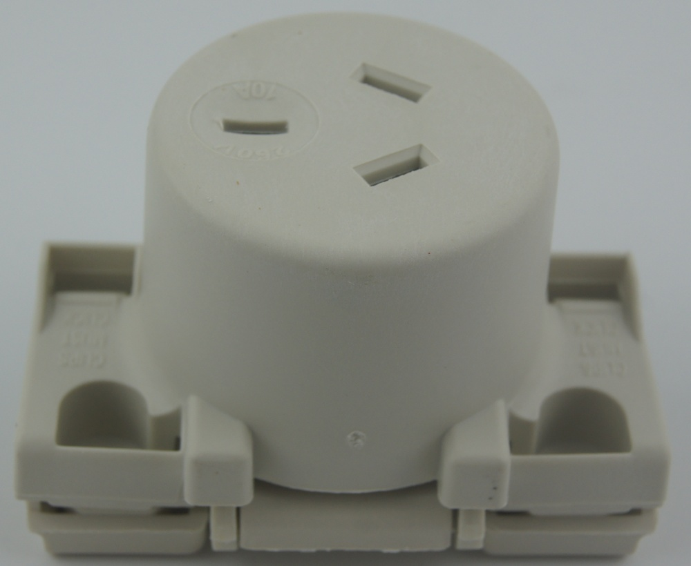 Australia surface socket quick connect SAA approval 413 QC White clipsal style SAA