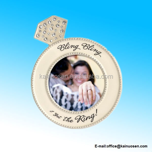 The Ring Diamond Ring Shaped Frame Ceramic Photo Frame