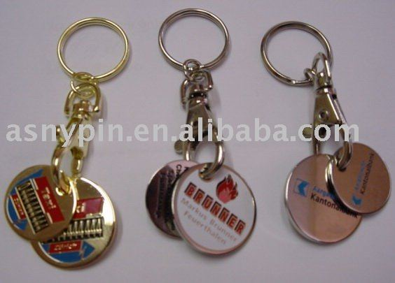2011 new custom coin holder keyring