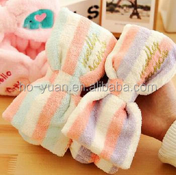 Sweet Comfortable Soft Feel Big Bow-Knot Plush Fabric Headband