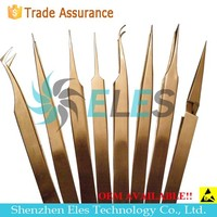 Hot selling cheap high precision curved tips tweezer
