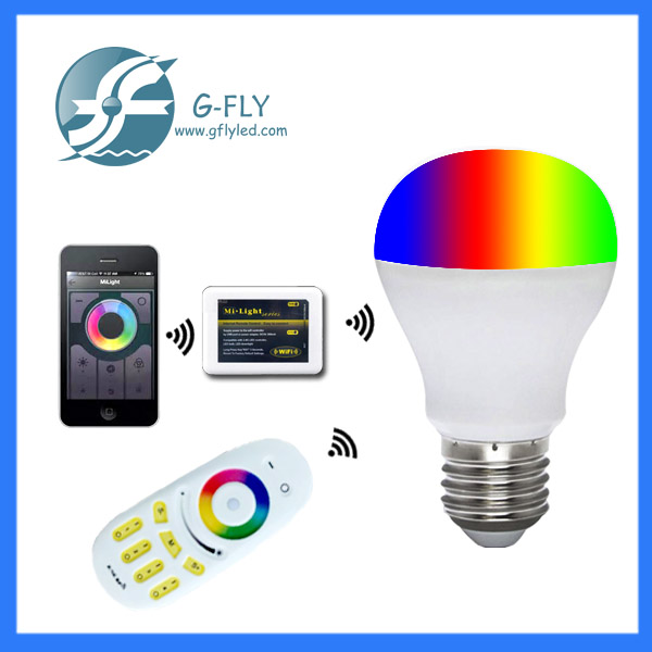 home automation, wifi led bulb 6w e27 light china factory