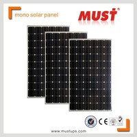 MUST Cheap solar panel factory 100W 150W 200W 250W 300W monocrystalline solar panel price