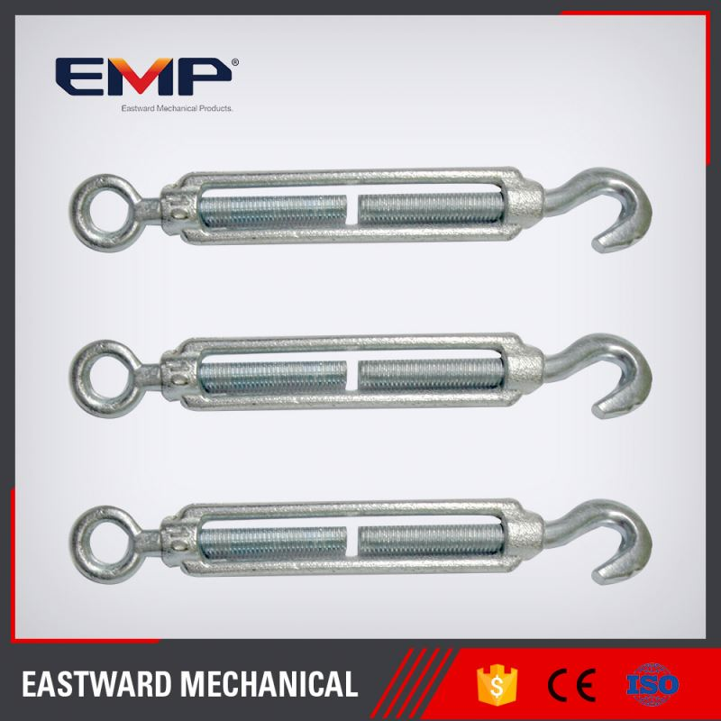 Zinc Plated 2016 New Products Forged Eye Hook Construction Commercial Malleable Steel Turnbuckle